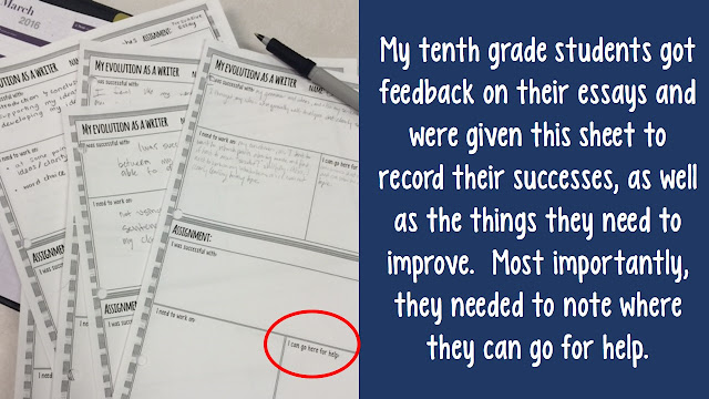 Use good descriptive feedback and engage in conversations with your students about their work.