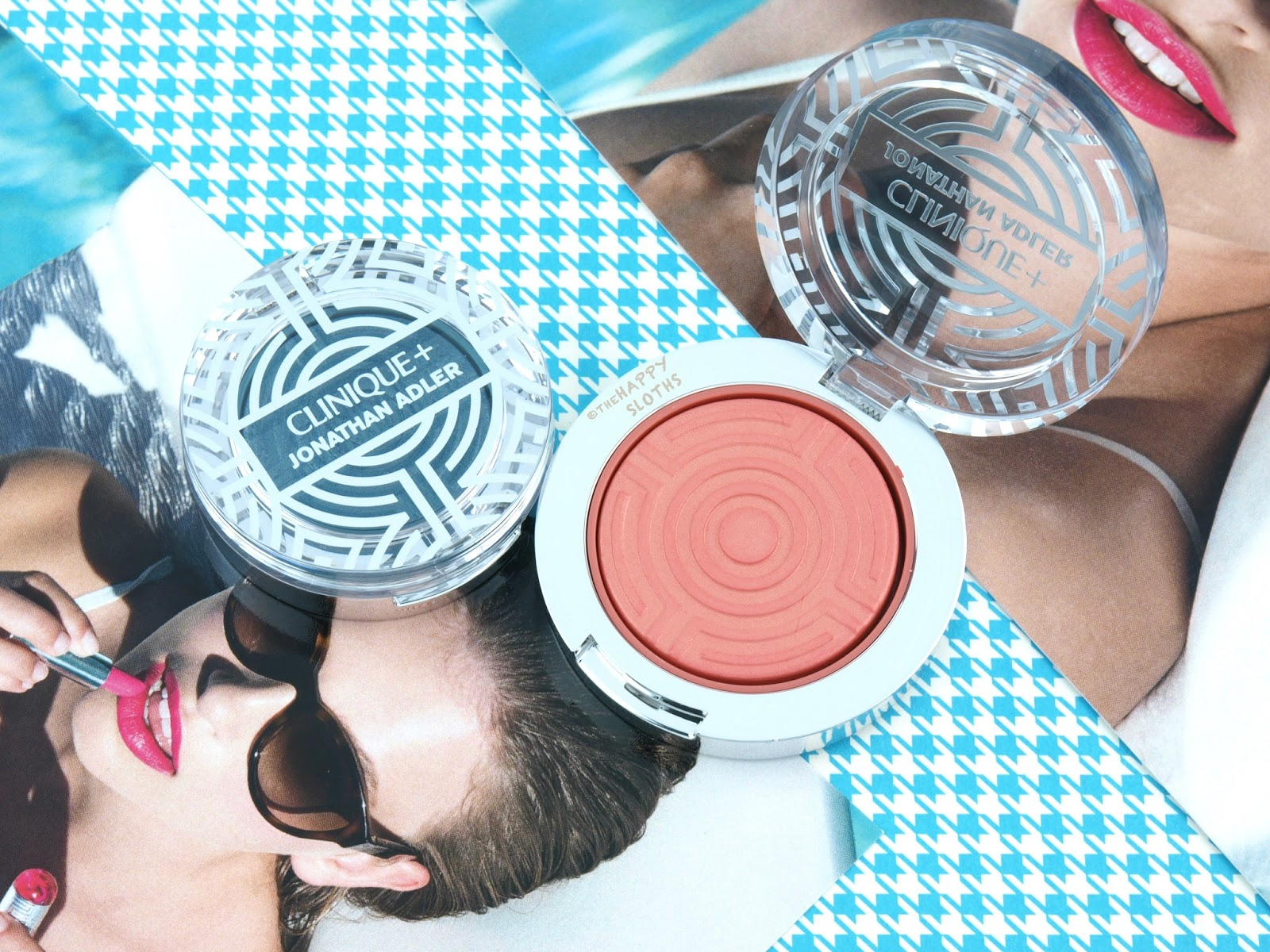 "Clinique + Jonathan Adler Collection | Lid Pop in ""07 Aqua Pop"" & Cheek Pop in ""02 Peach Pop"": Review and Swatches"