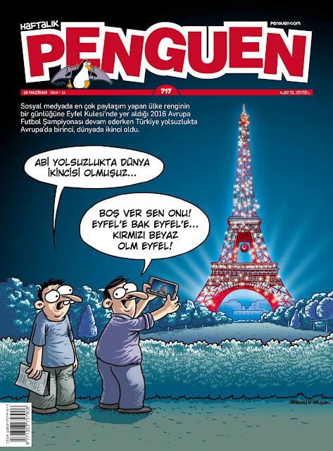 Penguen Dergisi - 16 Haziran 2016 Kapak Karikatürü