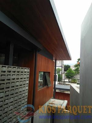 [ project ] Pemasangan Plafon kayu di Kemang dalam, Jakarta Selatan