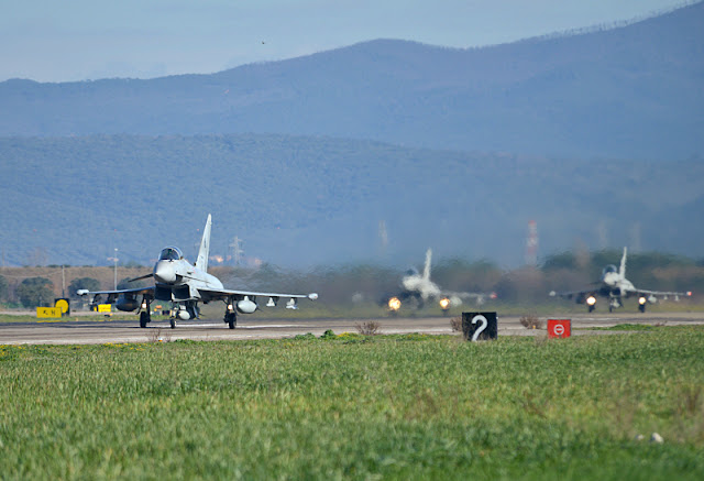 ITALIAN EUROFIGHTERS TAKE OFF FOR US RED FLAG