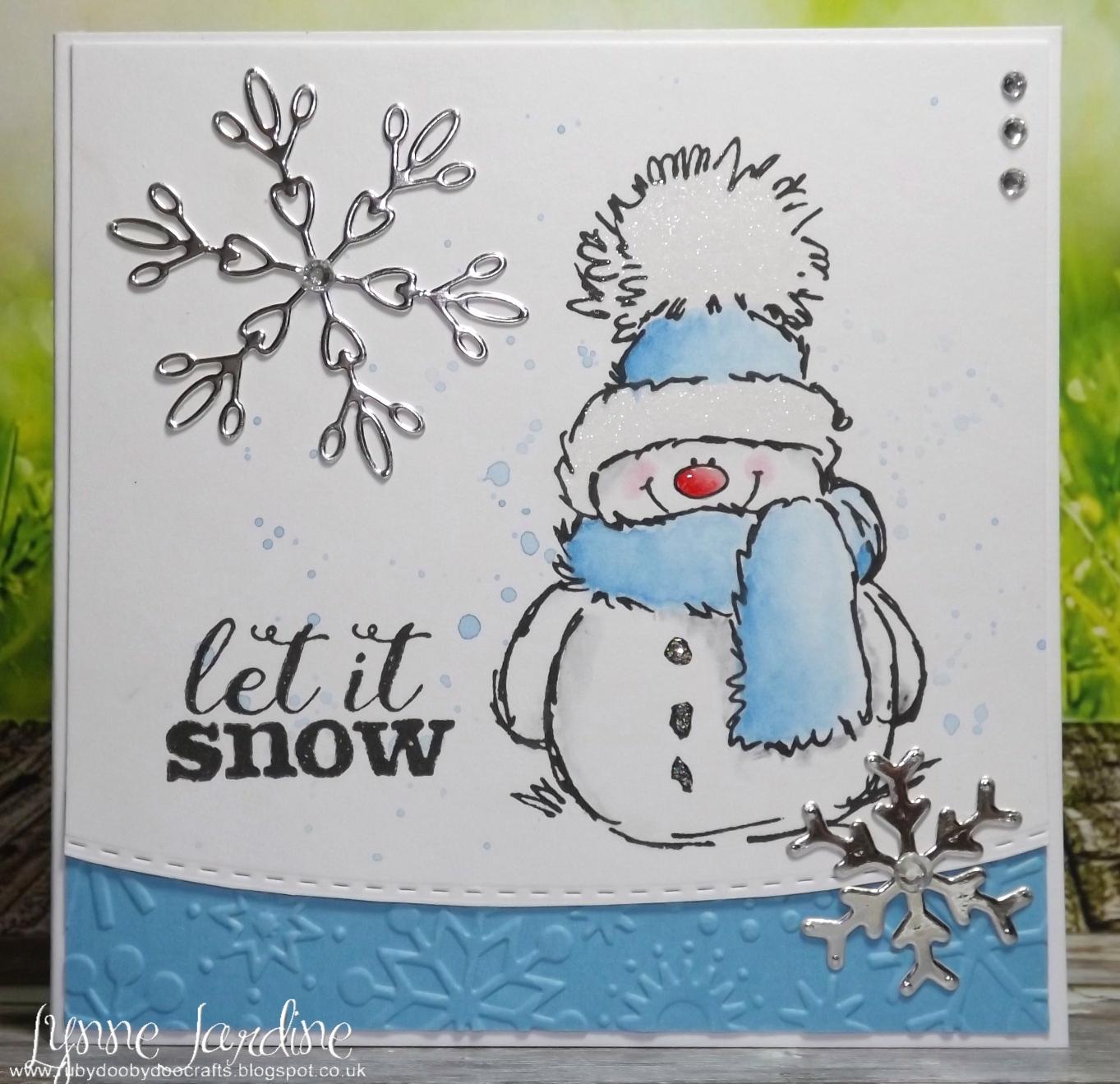 Ruby-Dooby-Doo Crafts: Blue Snowy