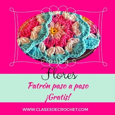 flores crocher gratis, patrones crochet, crochet paso a paso