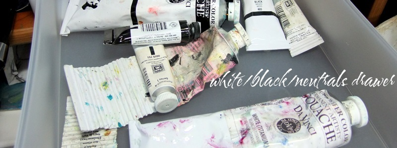tips for organizing gouache and watercolor paints in your art studio