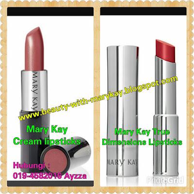 Mary Kay True Dimension Lipsticks dan Mary kay Cream Lipstick :