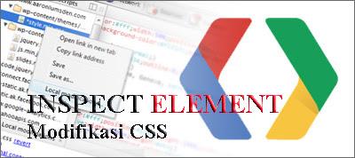 Penggunaan Inspect Element Dalam Modifikasi Template