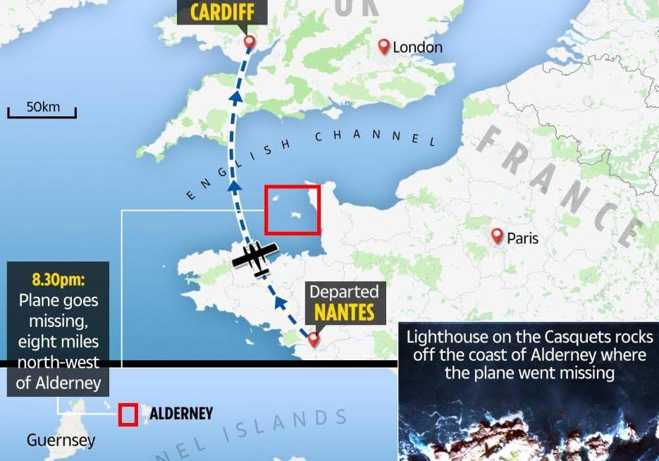 Misteriosa scomparsa dell'aereo che trasportava Emiliano Sala.