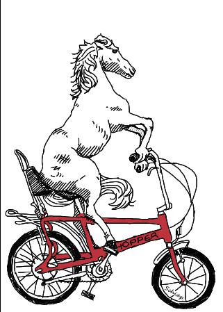 drawosaur: Bike Horse