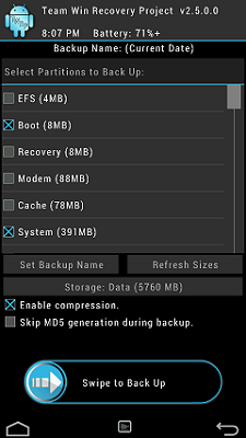 TWRP 2.8 for FLARE S3 OCTACORE PREVIEW 3