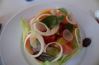Entrée restaurant le Bolibar de Marcel Ravin à Fort de France Martinique.
