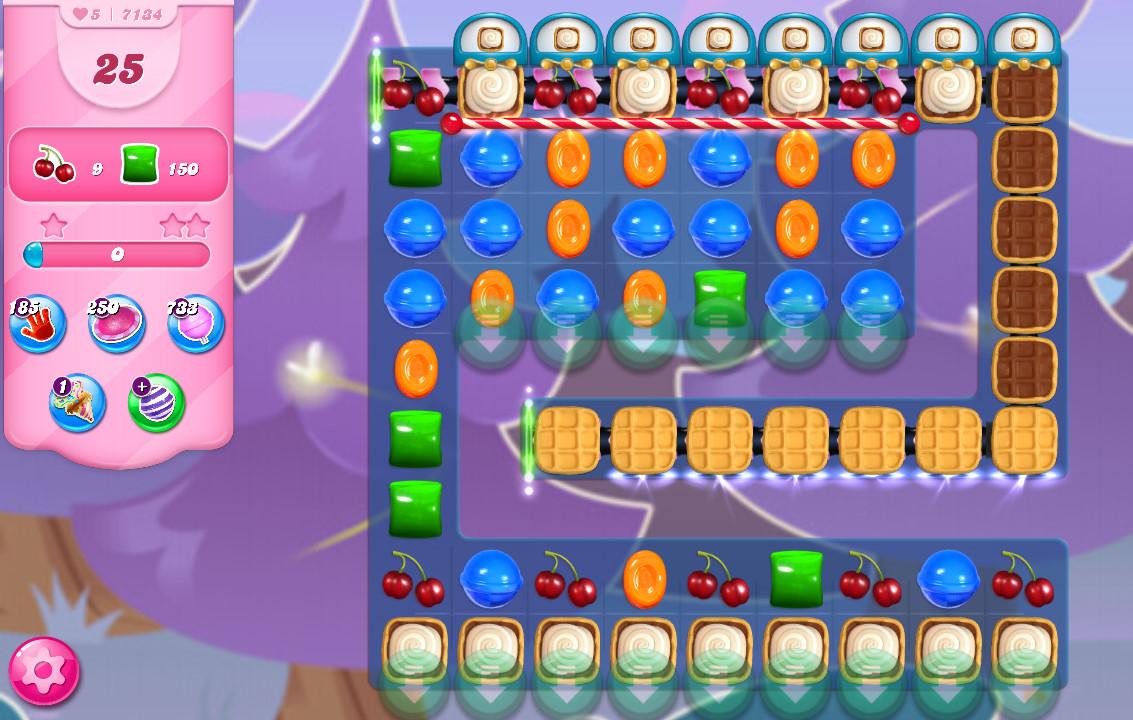Candy Crush Saga level 7134