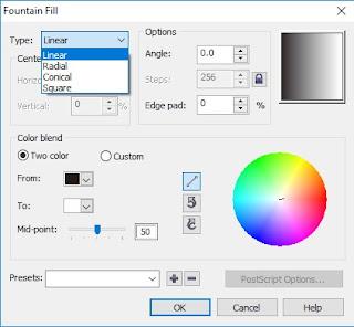 Cara Membuat Huruf 2 Warna di Corel Draw