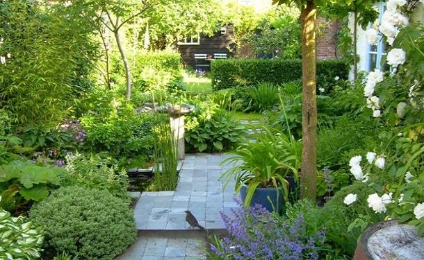 Чередование зон в саду