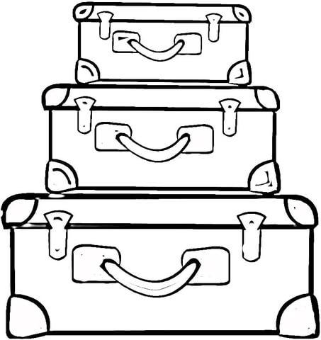dibujos de maletas para colorear