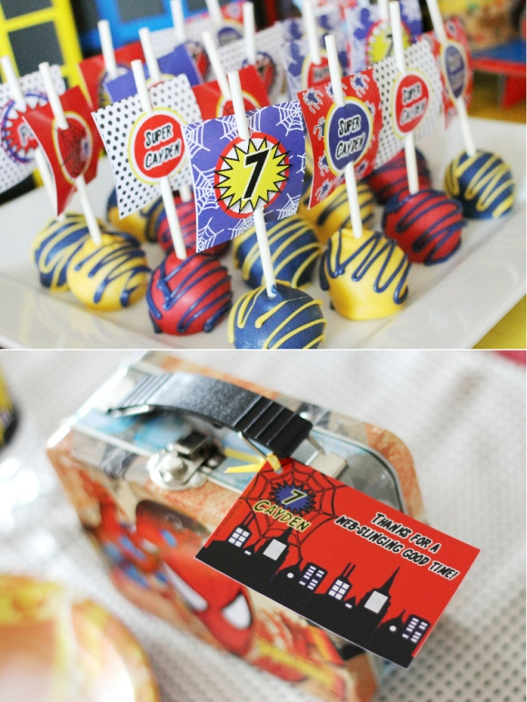 A SpiderMan Inspired 7th Birthday Party - via BirdsParty.com