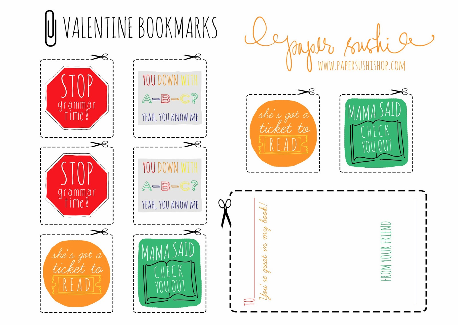 Paper Sushi Blog Free Printable Valentine S Day Cards