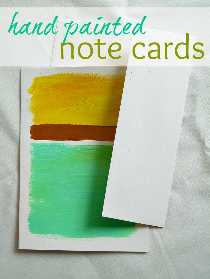How to Make Rothko-Inspired Hand Painted Note Cards