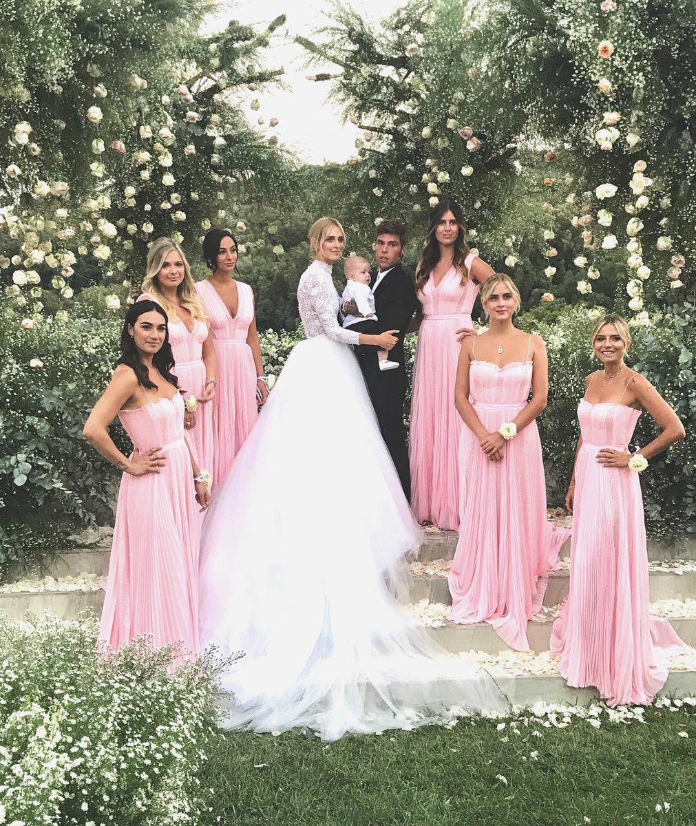 Chiara Ferragni is the epitome of elegance in Dior at her wedding