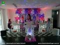 Tema Violetta para festa de aniversário infantil de meninas - mesa decorada de festa infantil