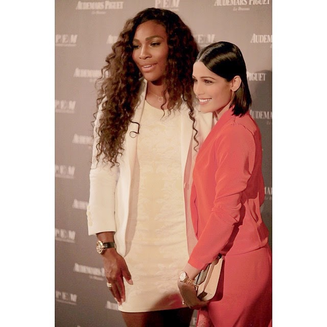 the magnificent serena williams and freida pinto at art basel/miami with ap....wristshots with game. @serenawilliams @freidapinto serena williams , freida pinto , @audemarspiguet aude mars piguet , a pf ans , art basel , art basel ,miami beauty , millenary , royal oak , a p , fashion , women , daily watch , insta pic , insta watch ,, Freida Pinto Red Dress hot HD Pics