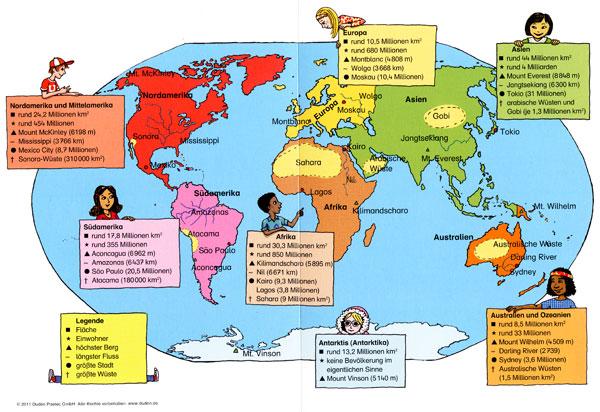 Bianca Schaalburg Weltkarte Kontinente