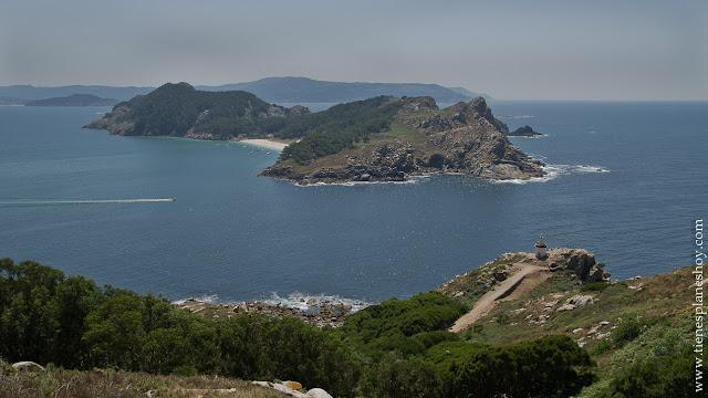 Faro Islas Cies Galicia vistas