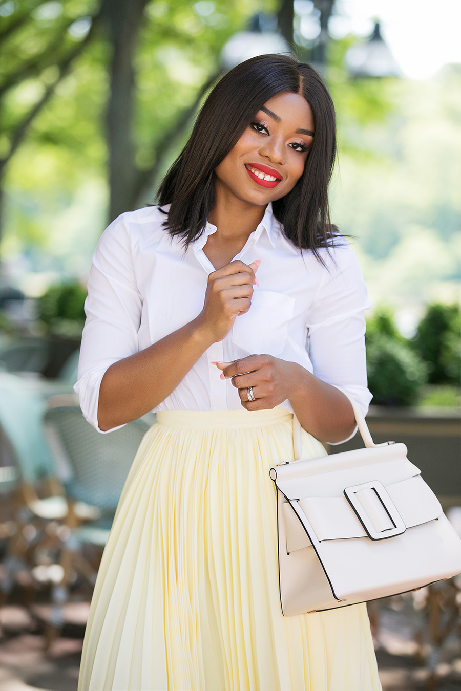 asymmetric pleated skirt, www.jadore-fashion.com