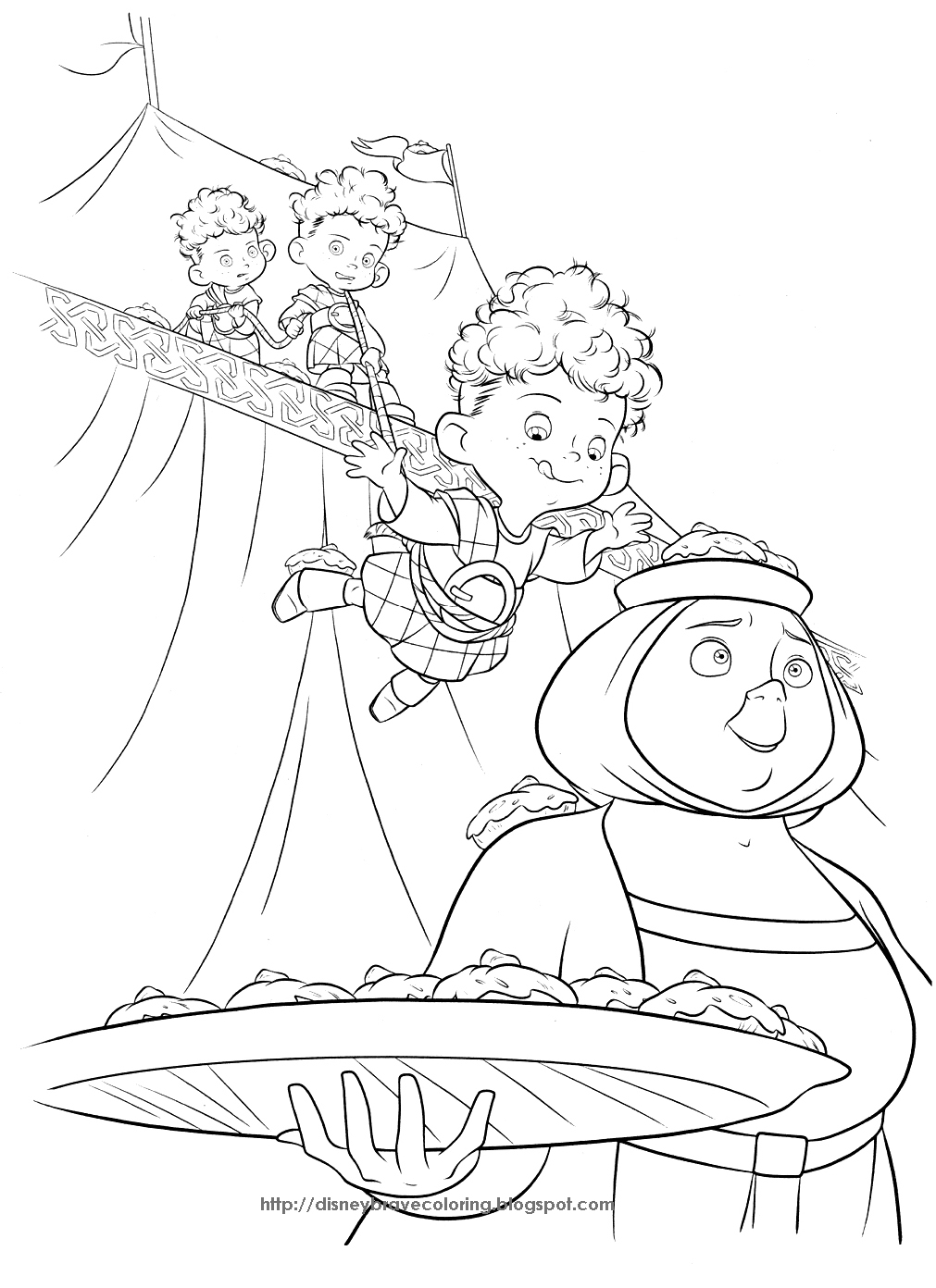 Young Merida – Brave Coloring Pages – Disney Movies List | 1392x1011