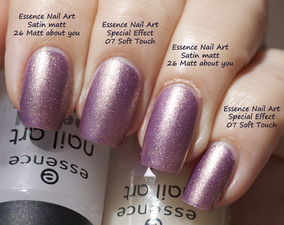 Essence Nail Art Satin Matt - 26 Matt about you! vs 07 Soft Touch