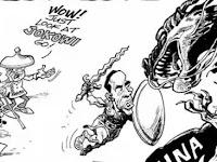 Sindir Presidennya, Media Filipina Rilis Karikatur Jokowi Serang China