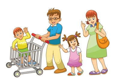 family, shopping