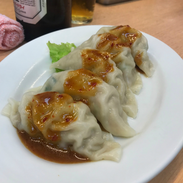 東白楽 元祖ニュータンタンメン本舗で食べたミソギョーザの写真です。