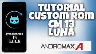 Flash Custom ROM LUNA Marshmallow Untuk Andromax A (CM13) Tanpa PC