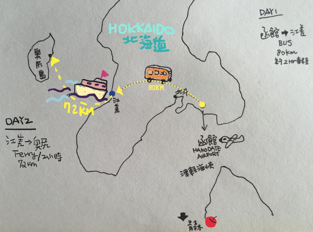 北海道奧尻島okishiri おくしり