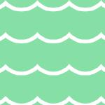 green waves paper