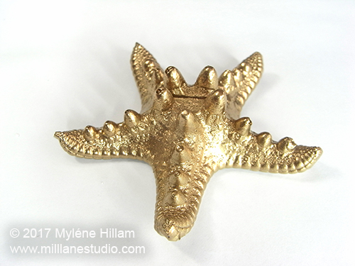 Finished gold starfish