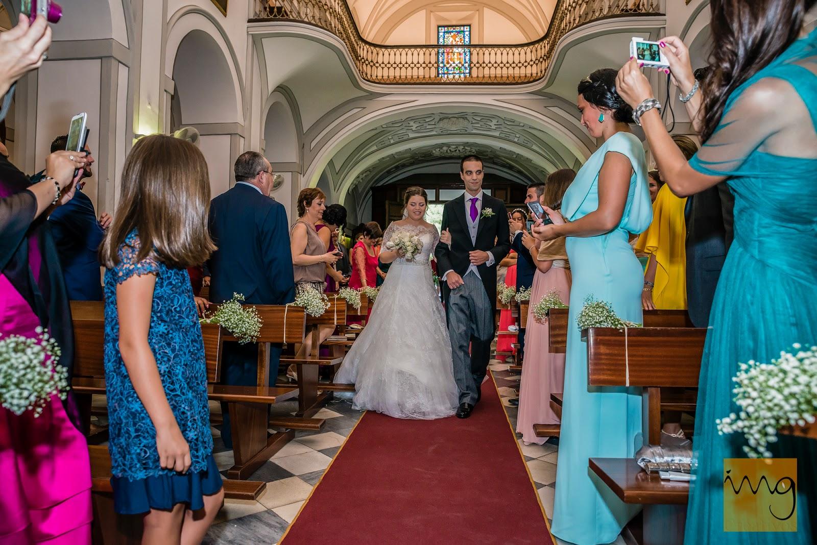 Fotografía de boda, llegando al altar