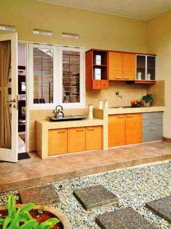 45 Inspirasi Top Desain Dapur Semi Terbuka Rumahku Unik