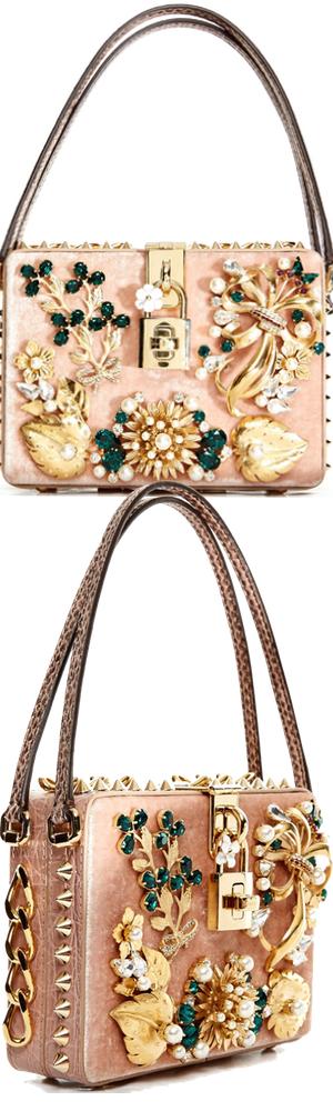 DOLCE & GABBANA Dolce Mama Box Embellished Bag