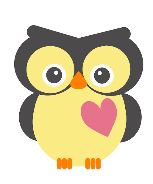 Valentine Owl Clip Art