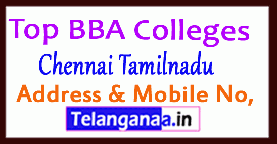 Top BBA Colleges in Chennai Tamilnadu