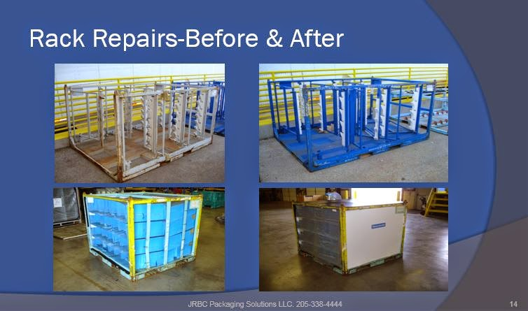 Returnable packaging. Rack Repairs. OEM. Packaging.
