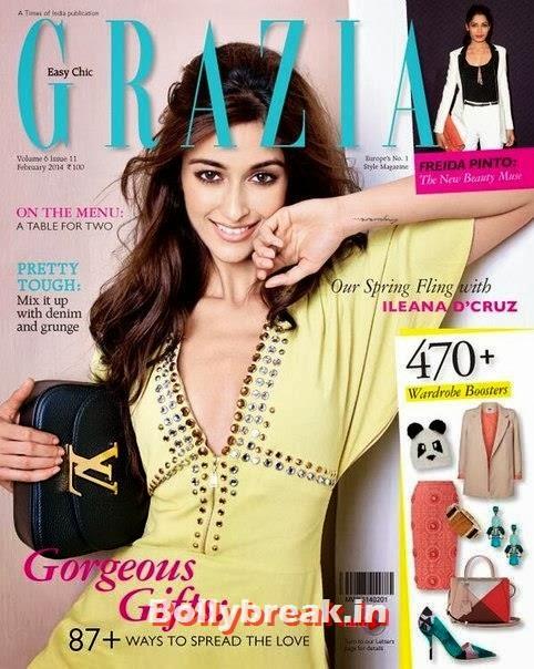 , Ileana DCruz Grazia Magazine Scans - Feb 2014