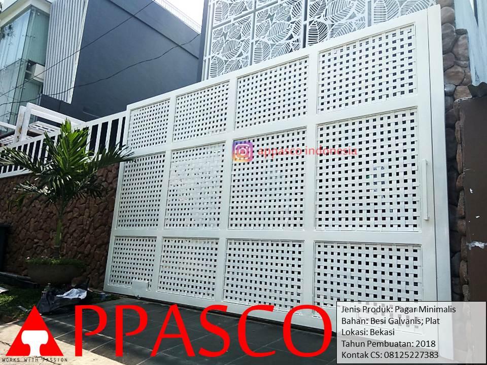 Pagar Minimalis Model Modern Mewah Besi Plat Galvanis di Bekasi