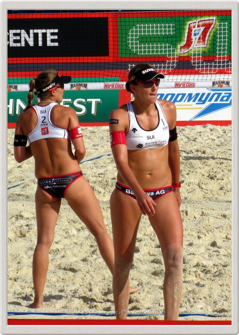 Swiss Beach Volleyball Player Nadine Zumkehr & Simone Kuhn