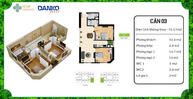 Căn 03 chung cư ICID Complex