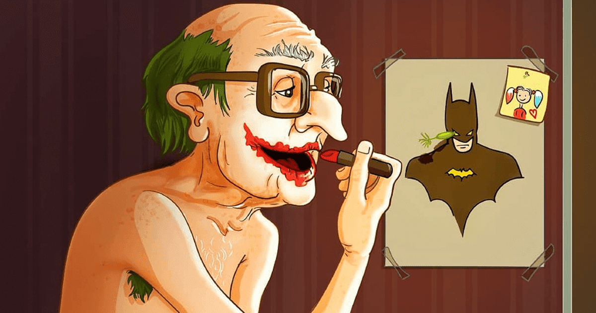 15 Beautiful Illustrations Of Popular Cartoons And Comic Characters In Old Age