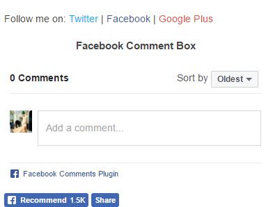 display facebook comment box on blogger