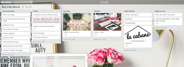 Trello screen tableau - Un Bout de Life