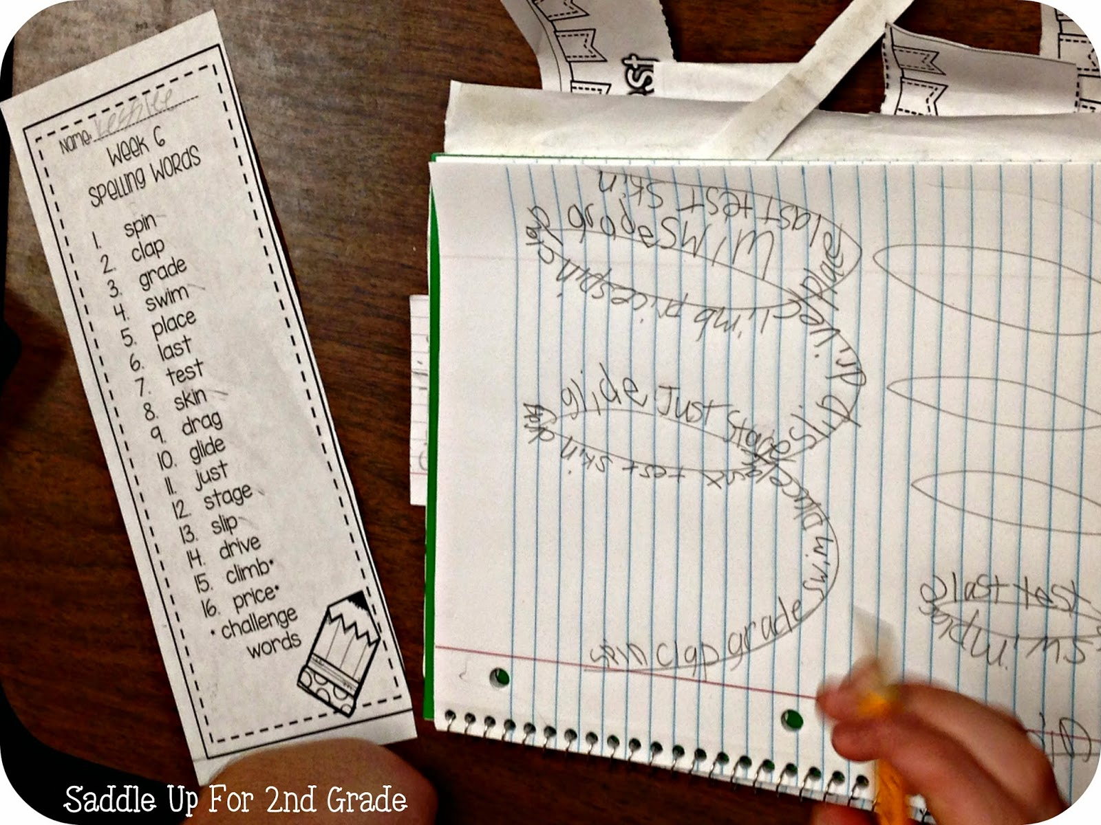 Squiggle Spelling by Saddle Up For 2nd Grade